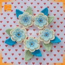 2014 fancy bridal white crochet flower lace trim for dress decorative
