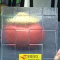 feuille de polystyrène pour encadrée portes coulissantes en verre de douche