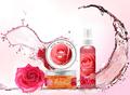 Pétalos de rosa de cristal gel máscara de la cara/de colágeno gel facial máscara de sueño