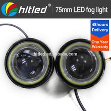 75mm / 2.5'' eagle eye, led headlight e39 fog cob lamp with cob angel eyes