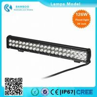 China wholesale 126W atv led light bar waterproof IP67 led bar light