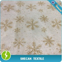 Star-shaped Glitter organza fabric