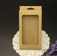 Custom Designed Paper Box Retail Packaging / Brown Kraft for Phone Case