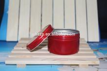 red Christmas gift decorative candy jars,Chinese aluminum jar,3.5 OZ screw aluminum jar
