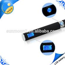 new e cig ego LCD display lithium battery 1300 mah e cigarette replacement battery for e-cigarette manhattan mod