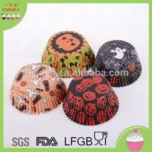 Wholesale Halloween Pumpkin design cake cup,cup cake, cupcake