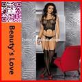nova chegada transparente lingerie mulheres virilha aberta meia do corpo sexy