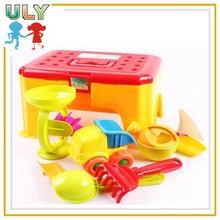 Plastic summer beach toys for children sand molds kids toy