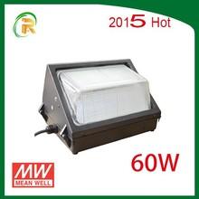 Meanwell 110V 220V Line :ED Lighting Lamp Outdoor 60 Watt UL LED Wall Pack