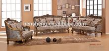 S2115 sofa set new design, wooden sofa set furniture, Foshan sofa