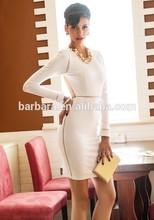 2015 New sexy white halter backless elegant Bandage Dress evening bandage dress