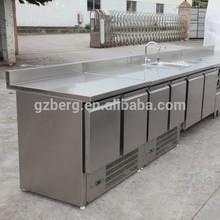 Stainless steel bar counter fridge