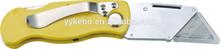 Folding Utility knife ,plastic box cutter knife