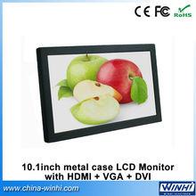 Manufacture Guarantee 100% 1024 x 600 16:9 CE FCC RoHS MINI portable 10 inch computer monitor