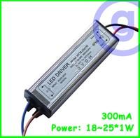Waterproof LED driver 25w 18~25x1W 300mA