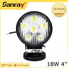 "18W LED outdoor light 4.6"" round waterproof 1140 lumen"