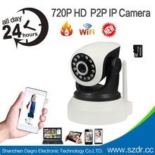 Factory Directl Sale P2P Wireless Network Camera 1MP Free Rotate 720P PTZ Wireless Video Camera