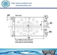 Aluminum Radiator For Toyota Corolla CE121 2005 OEM:164006A290