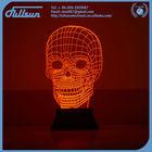 3D skull shape bedroom led night lamp FS-2815