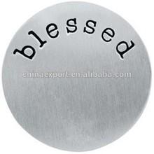 2015 stainless steel Living Locket Word Plate