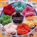 Suisse tissu de dentelle avec fantaisie crochet fleur pour sherri colline robes YJC15455-1