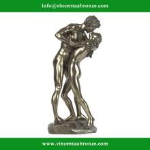 2015 hot sale home decor family bronze erotic statues