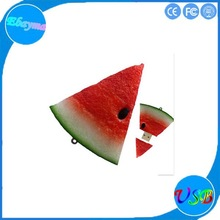 gift watermelon usb flash drive16gb 2.0 usb disk soft pvc watermelon usb pen drive