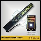 Security high sensitivity handheld metal detector MD3000,ferrous and non-ferrous mini Super Scanner