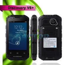 4 inch 2 SIM Card dual camera MTK6572 4GB 3G phone Discovery V6+ waterproof mobile phone