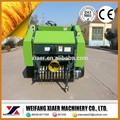 Trattore- tipo di rimorchio mini pressa fieno rotonda/ampiamente usato per erba e paglia/con 4 ruote piccolo trattore pressa balle fieno