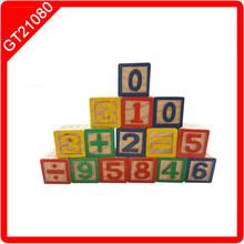 Customized educational kids wooden alphabet blocks