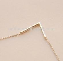 Wholesale Alibaba Silver V Shape Necklace