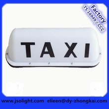 High quality plastic housing OEM magnetic white taxi lamp