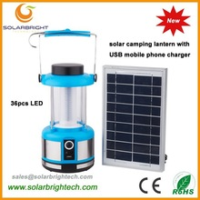 Manufactured 8 years experience with USB charger FM radio emergency portable solar energy powered led camping solar light