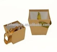 Cardboard Basket Box with Rope Handle