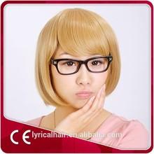 "synthetic hair wig straight 10"" blonde Braiding Hair Wig Short Hair"