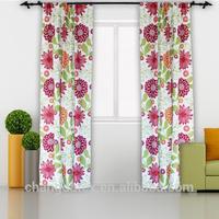 100%polyester curtain design home textile microfiber window curtain