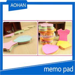 color assorted self-stick memo cube or memo pad