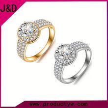 2015 Wholesale New Design Women Fashion Zircon Latest Wedding Ring