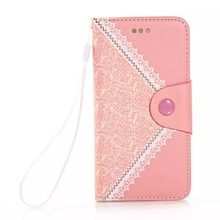 cover and case for iphone 6,pink wallet leather case iphone 6, lady lovely leather case for iphone 6 plus