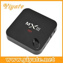 quad Core tv box 2.0G Cortx-a9 google android 4.4 smart tv box MXIII on board emmc flash 8GB