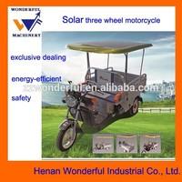 New solar electric three wheels transport vehicle