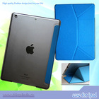 For new arrival folding ipad air case , for ipad air folding pu leather case