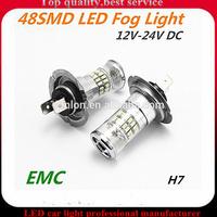 Save energy led fog light.12V high bright 48 SMD 3014 H7 fog light for all cars