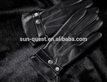 leather gloves half finger black