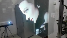Transparent Holographic Rear Projection Film ,Self Adhesive Holographic Film ,Adhesive Transparent Film Window