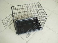 china cheap heavy duty double metal wire dog crate
