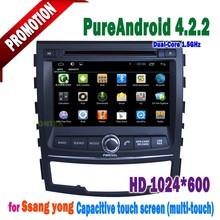 2012 nueva Ssangyong korando / nueva Actyon radio de coche con gps sistema de navegación