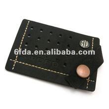black 2012 lastest fashion quality leather label