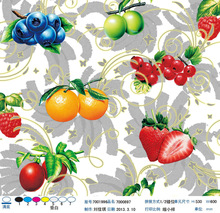 splash-ink painting with fruits plastic pvc clear printed films